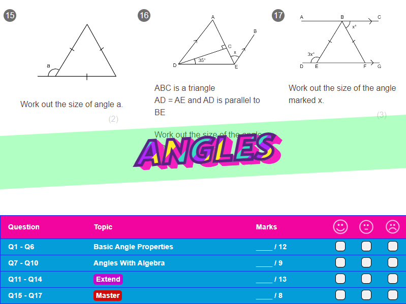 Angles Worksheet + Answers (Higher GCSE)