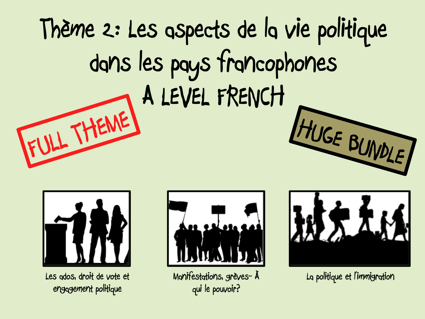 Les aspects de la vie politique- FULL THEME- A LEVEL FRENCH