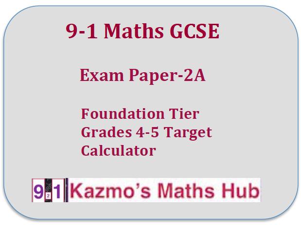 9-1 Maths GCSE Exam Paper -2A
