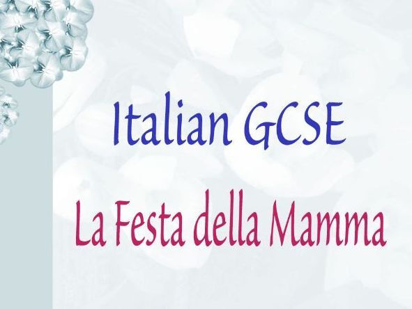 Italian GCSE Mother's Day
