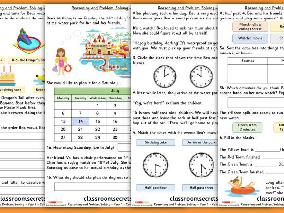 Time Consolidation Year 1 Summer Block 6 Reasoning and Problem Solving
