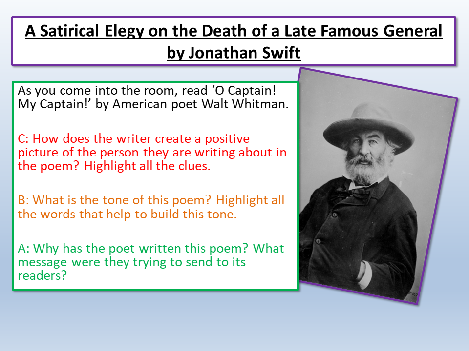Satirical Elegy On The Death Of A Late Famous General Jonathan