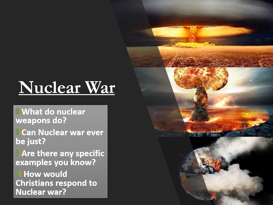 think about nuclear war essay Read this miscellaneous essay and over 88,000 other research documents nuclear weapons nuclear weapons in the beginning the atomic bomb was constructed to end a war and save lives.