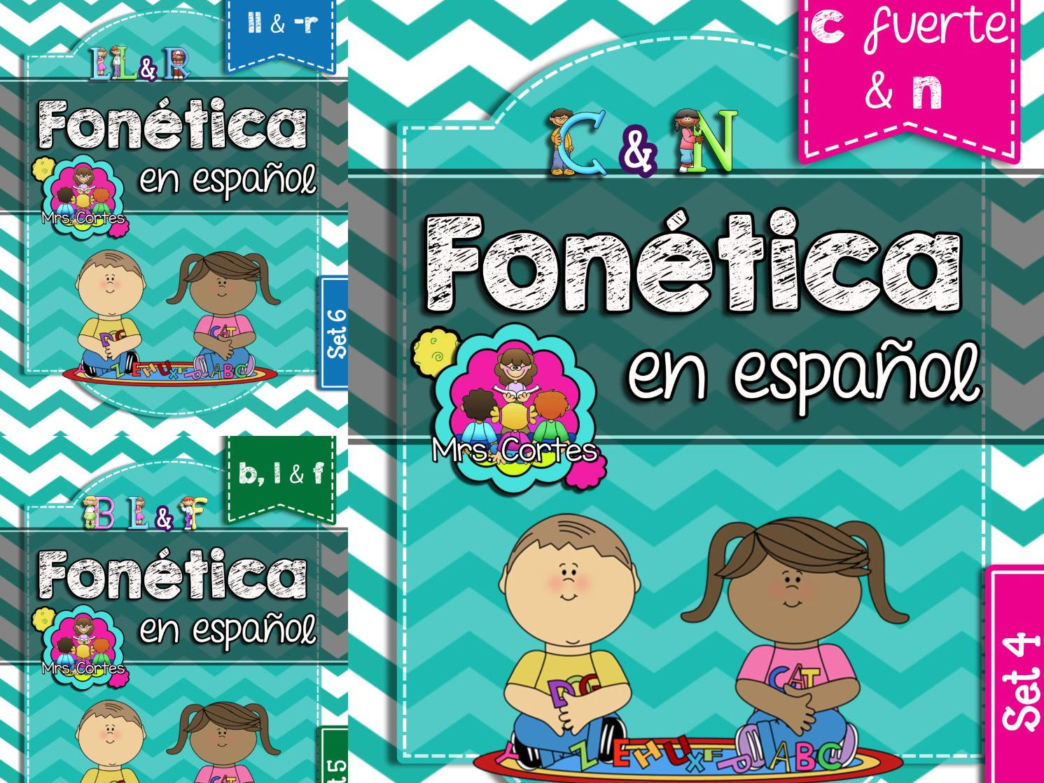 Spanish Phonics Book Bundle # 2: Sets 4, 5, and 6