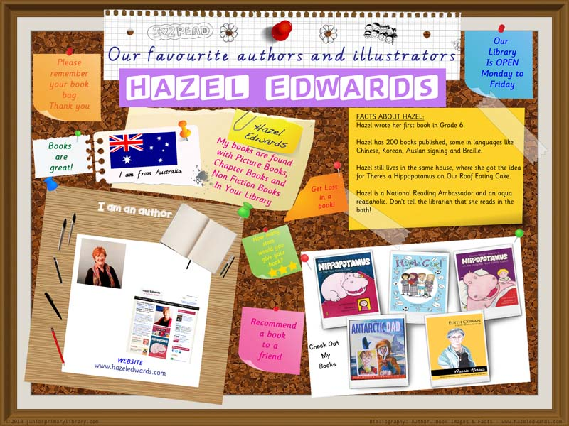 Library Poster - Hazel Edwards Australian Author Of Children's Books