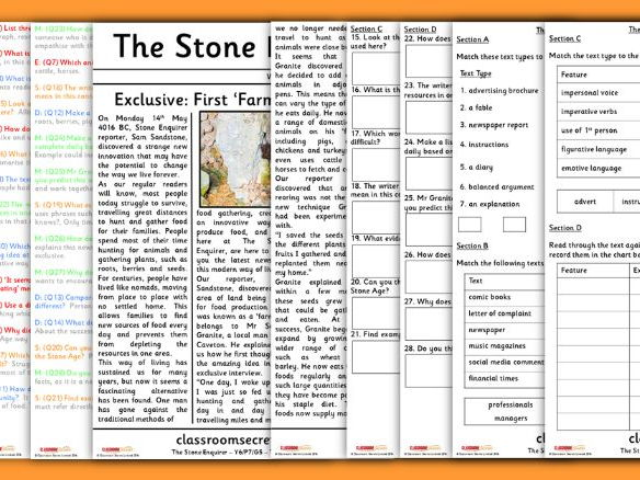 Year 6 Stone Age Whole Class Guided Reading