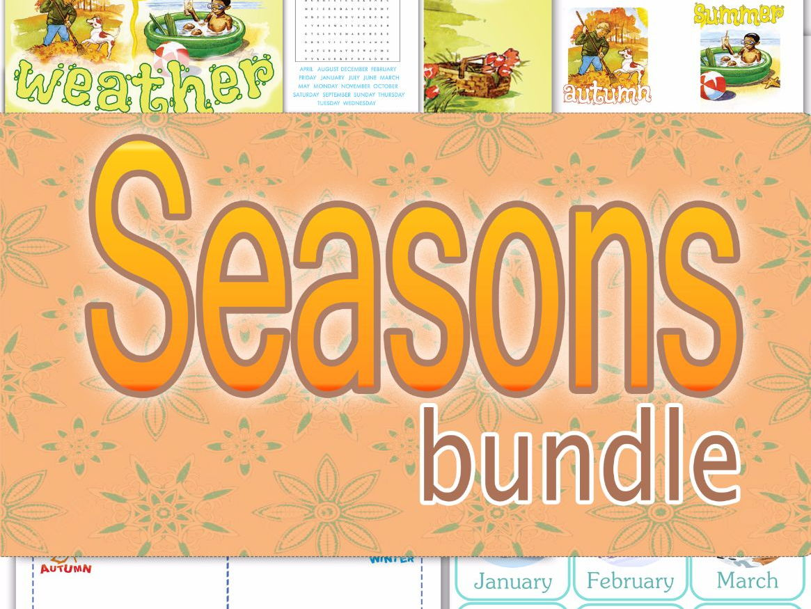 Seasons of the year bundle