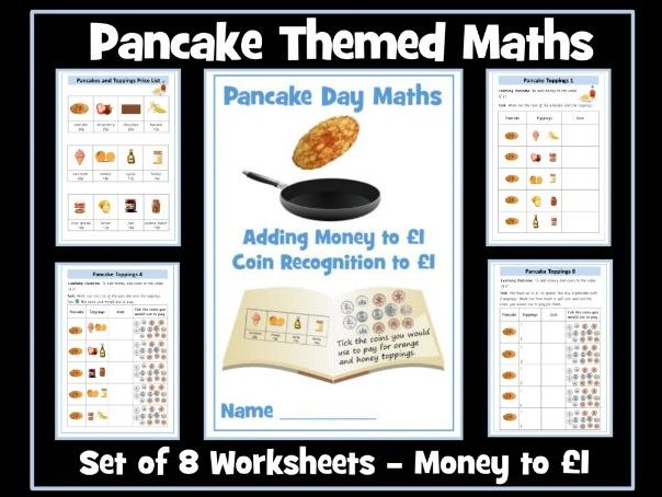 Pancake Day Money Worksheets