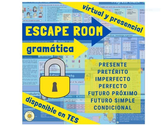 Spanish Grammar Escape Room