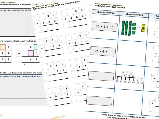 Year 3 Number Addition & Subtraction Set