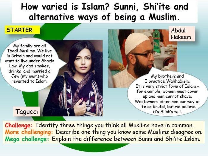 Islam : Sunni, Shi'ite