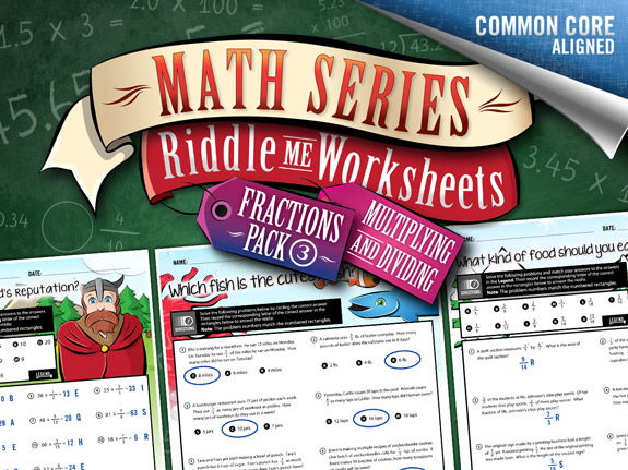 Fractions Worksheets: Multiplying & Dividing – Math Riddles