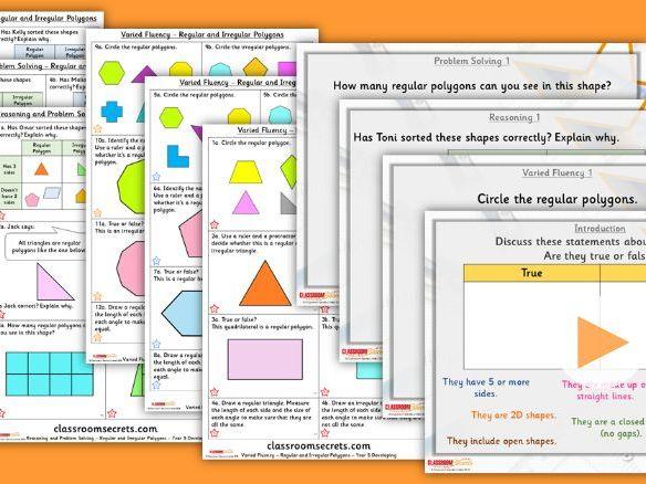 Year 5 Regular and Irregular Polygons Summer Block 2 Step 8 Lesson Pack