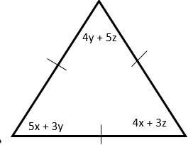 The Equilateral Triangle - Simultaneous Equations - Starter Plenary Problem Solving