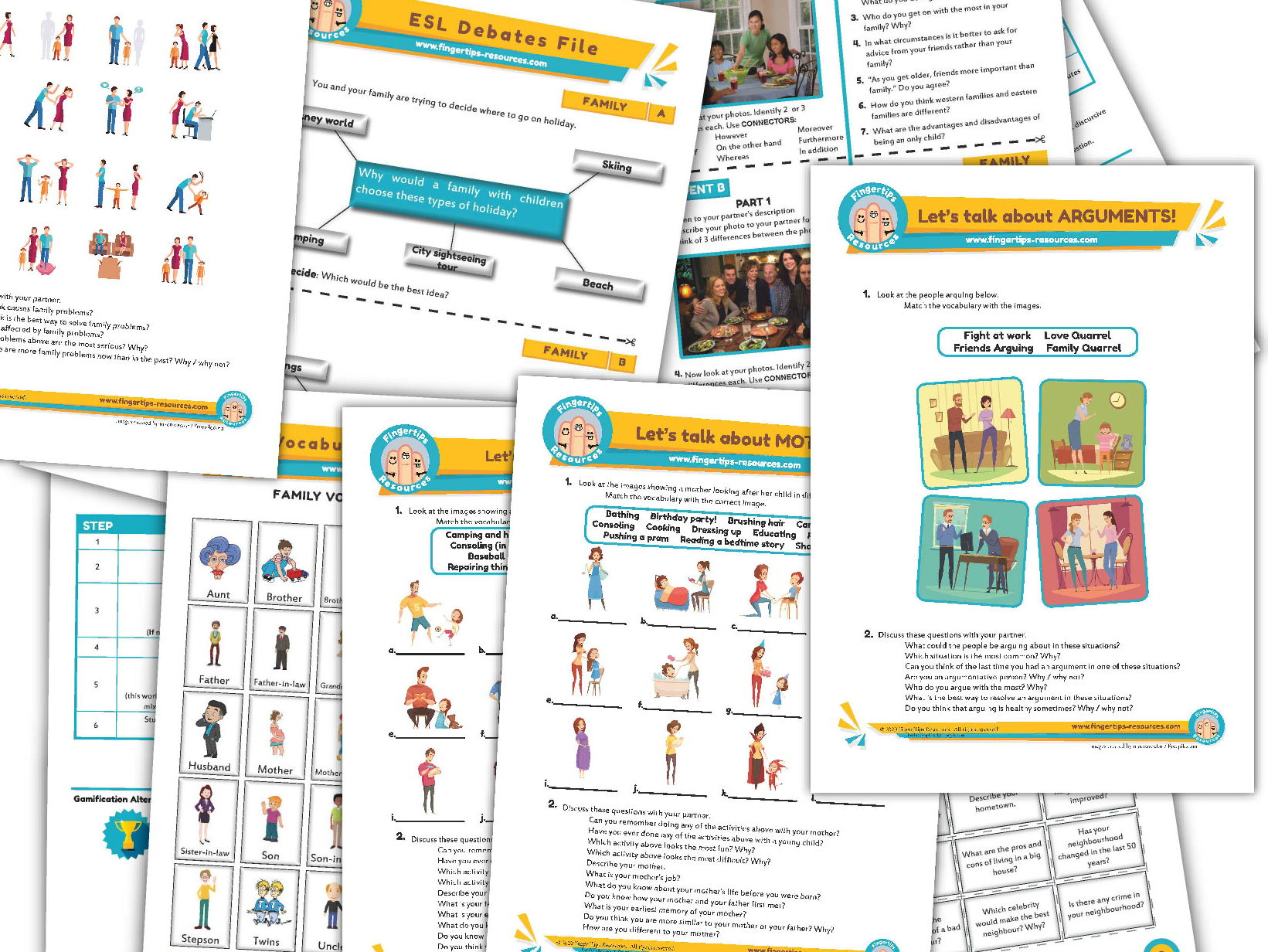 Family Unit - ESL Activity Bundle