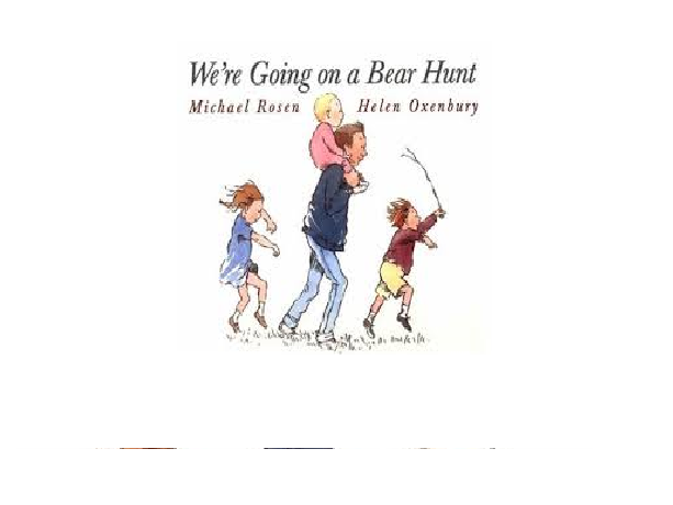 PreK and Kindergarten Unit of work for one week based on We're going on a bear hunt.