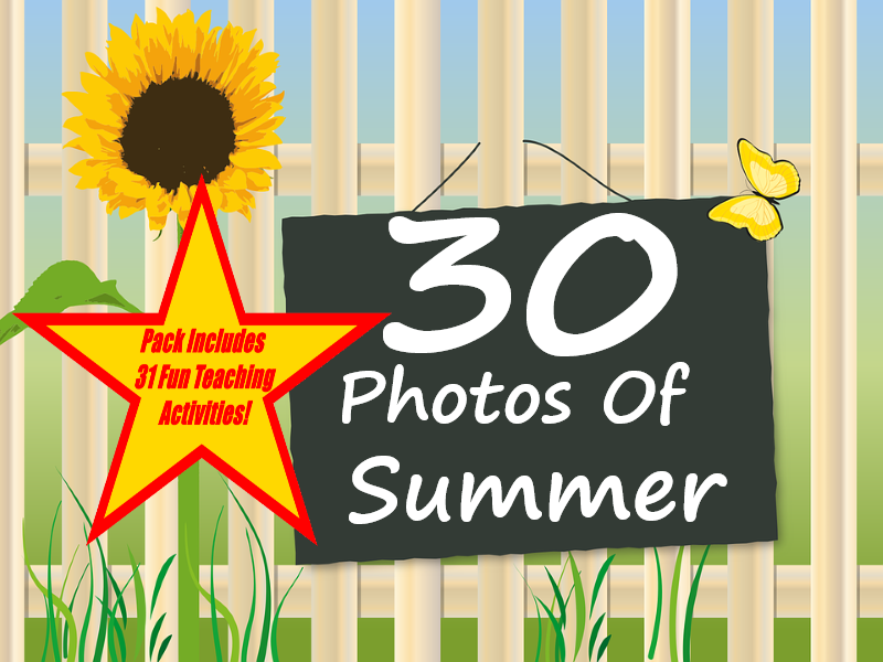 30 Summer Photos Presentation + 31 Fun Teaching Activities For These Cards