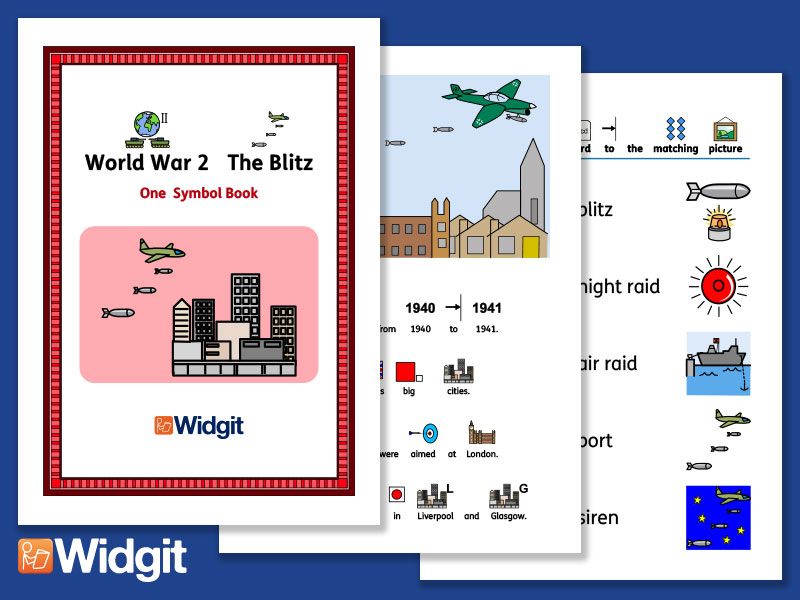 The Blitz - History Book and Activities with Widgit Symbols