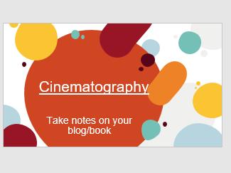 BTEC Creative Media Unit 1: Cinematography