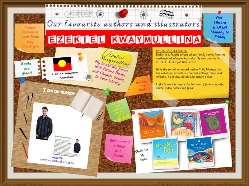 Library Poster - Ezekiel Kwaymullina Indigenous Australian Book Author