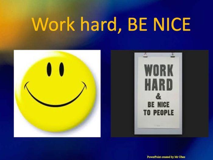Be nice - assembly