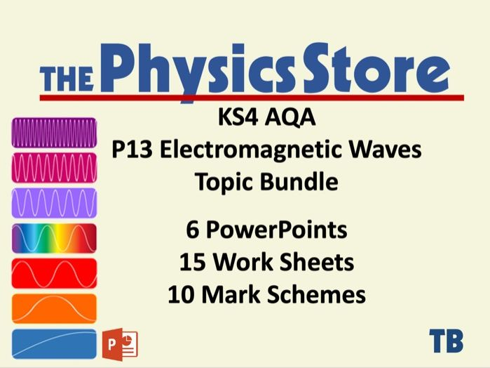 KS4 GCSE Physics AQA P13 Electromagnetic Waves - All 6 PPTS 15 WS 10 MS