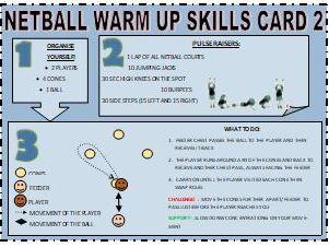Netball Warm Up Skill Cards