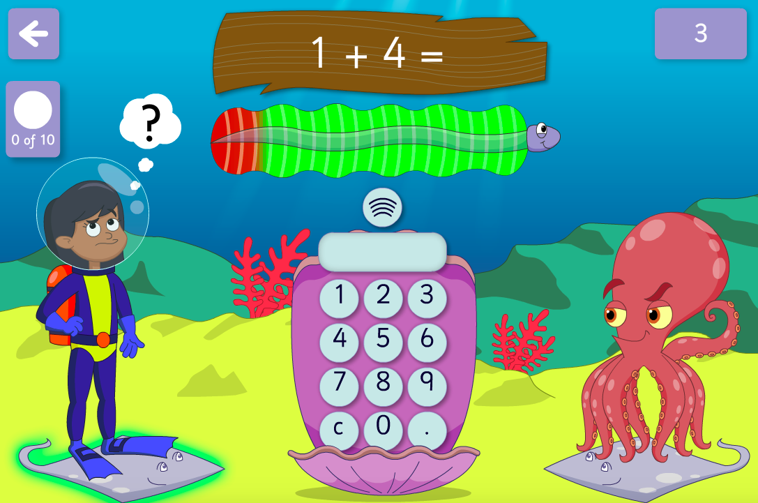 Addition to 100 - Beat the Octopus Interactive Game - KS1 Number