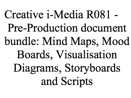 R081 Bundle - Pre-Production Documents - Creative i-Media