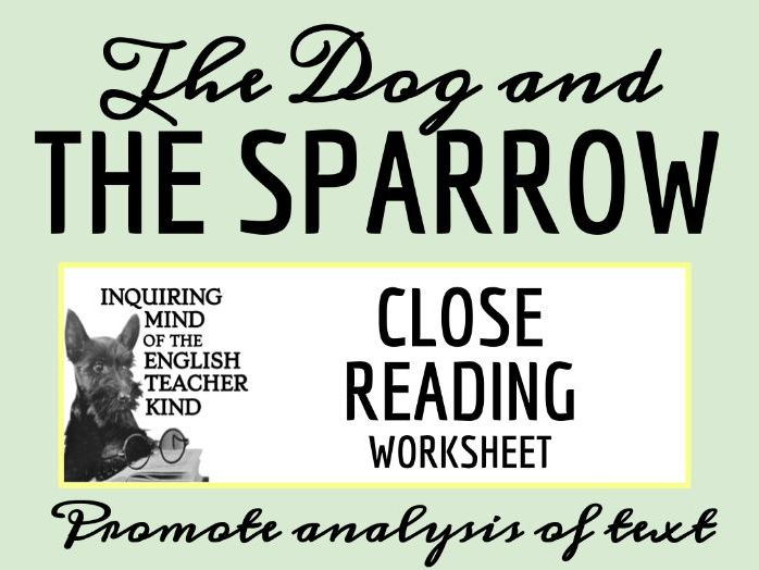 """Grimms' Fairy Tale """"The Dog and the Sparrow"""" Close Reading"""