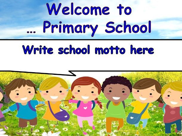 School Welcome / Welcoming Presentation Screen for School Foyers to welcome parents