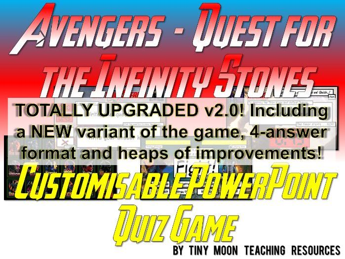 Marvel's Avengers - Quest for the Infinity Stones PowerPoint Quiz Game
