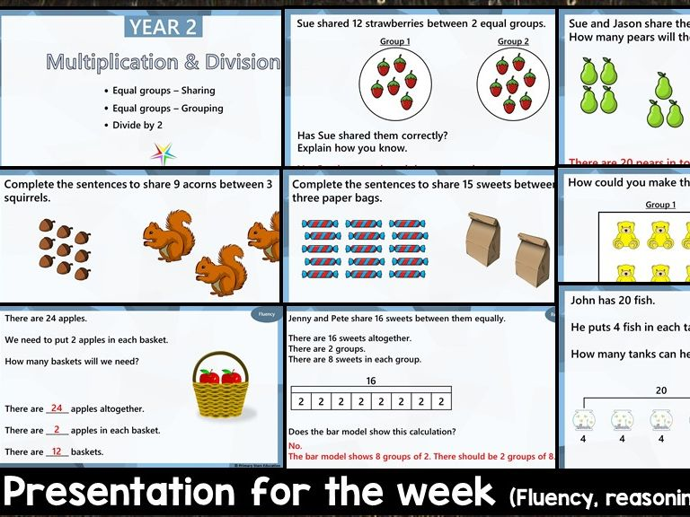 YEAR 2 - Multiplication- White Rose - WEEK 1 - Block 1 - Spring  - FREE PRESENTATION