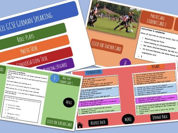 GCSE German Speaking Exam Pack