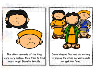 Daniel in the Lions' Den Bible Story Flashcard Story