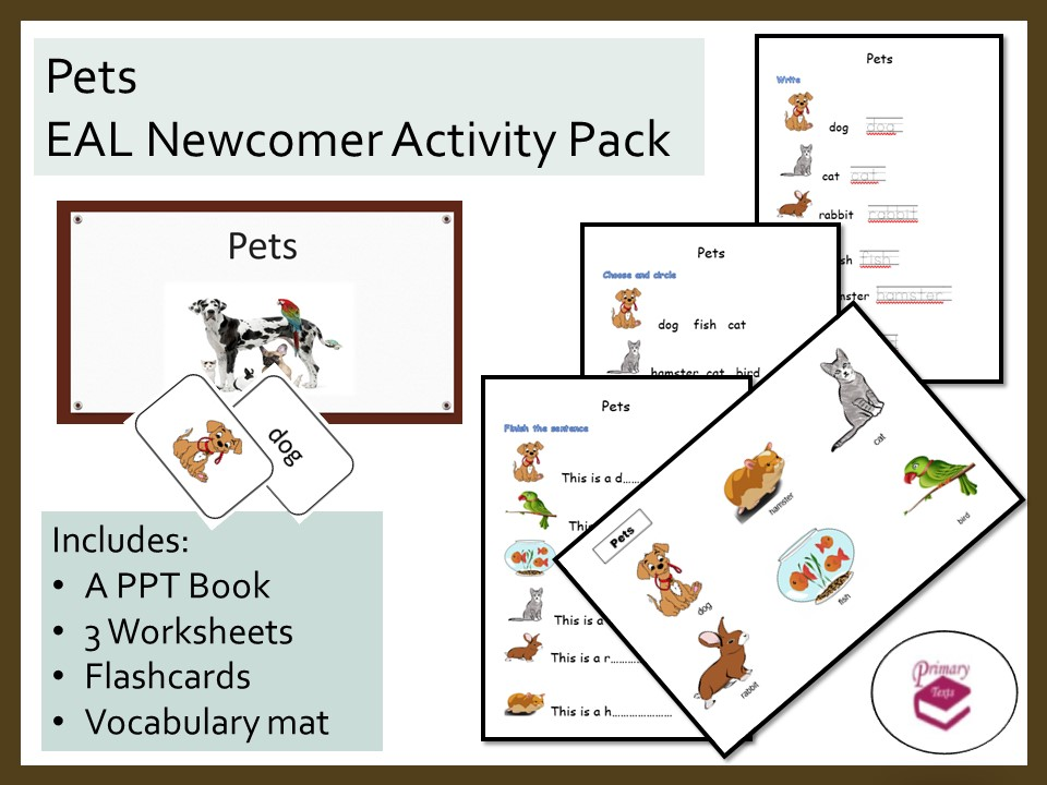 Pets EAL Newcomer Activity Pack