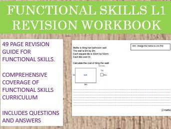Functional Skills Maths L1 Revision Workbook with Answers