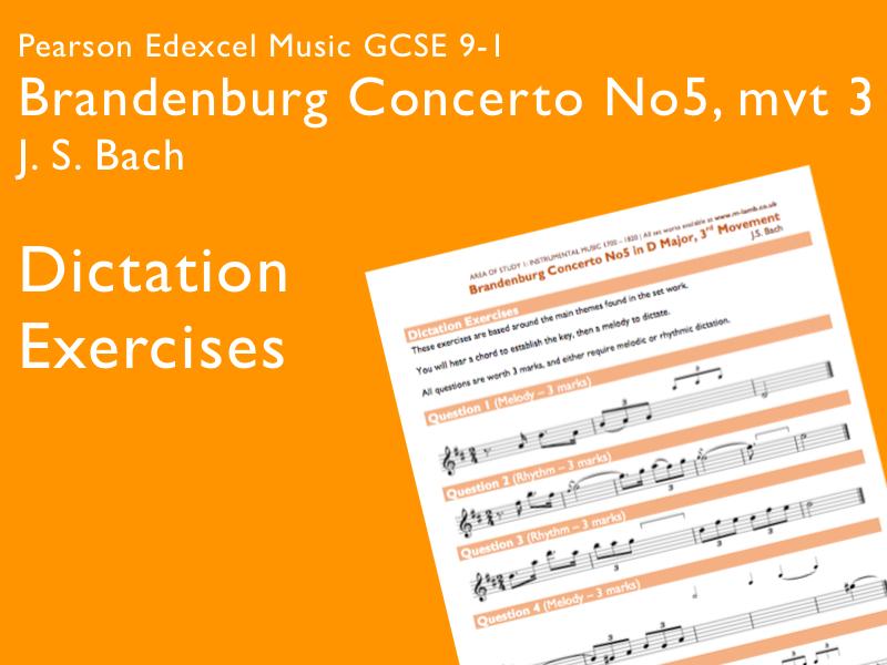 Bach - Brandenburg Concerto 5, mvt 3 | Edexcel Pearson GCSE Music 9-1 | Dictation Exercises