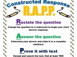 R.A.P.P. Constructed Response Poster