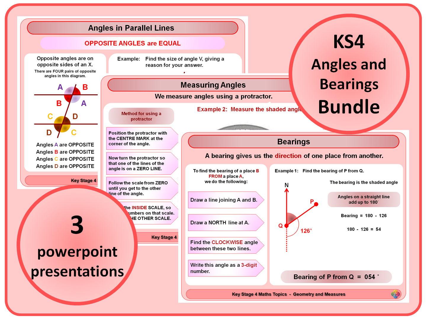 KS4 Angles and Bearings BUNDLE
