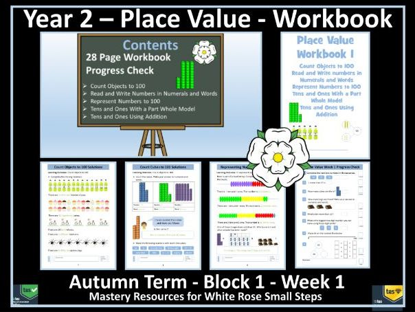 Place Value: Year 2 - Autumn Term - Week 1 - Maths' Workbook For Delivery of White Rose Scheme