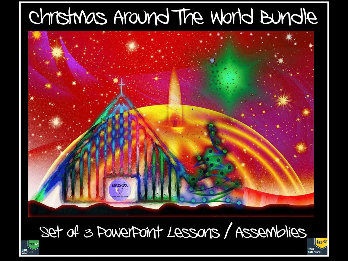 Christmas Around The World Bundle - Three PowerPoint Lesson / Assembly Presentations