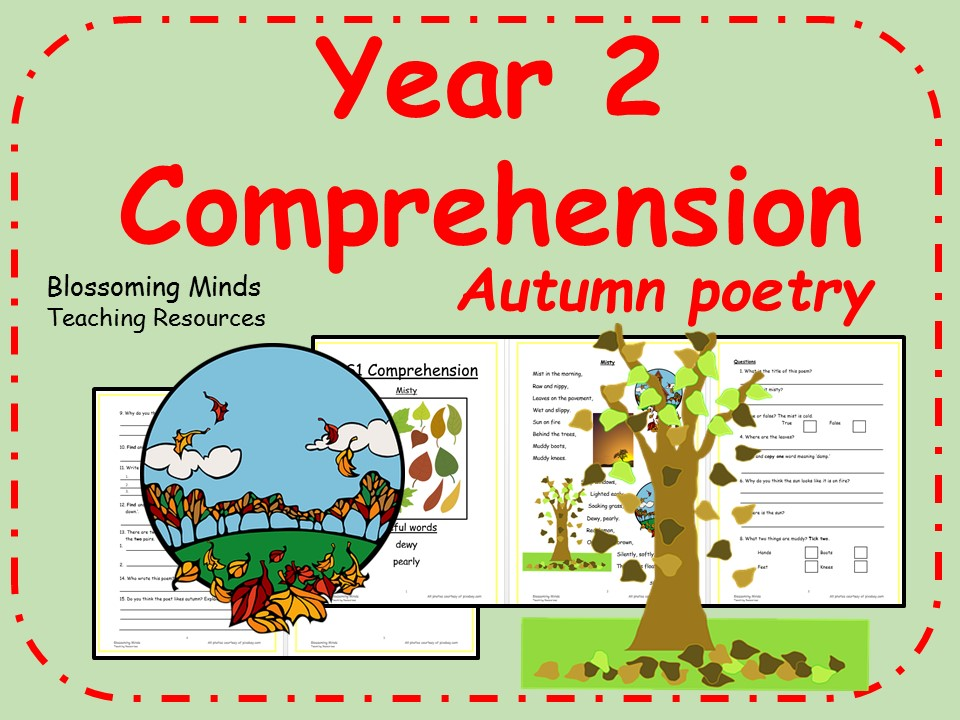 Year 2 autumn poetry comprehension
