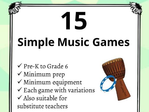 15 Simple Music Games for K-6