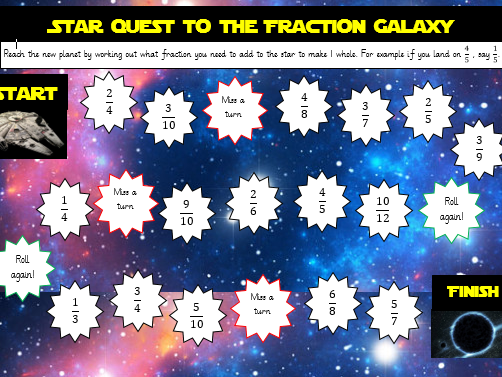 Star wars themed adding fractions board game