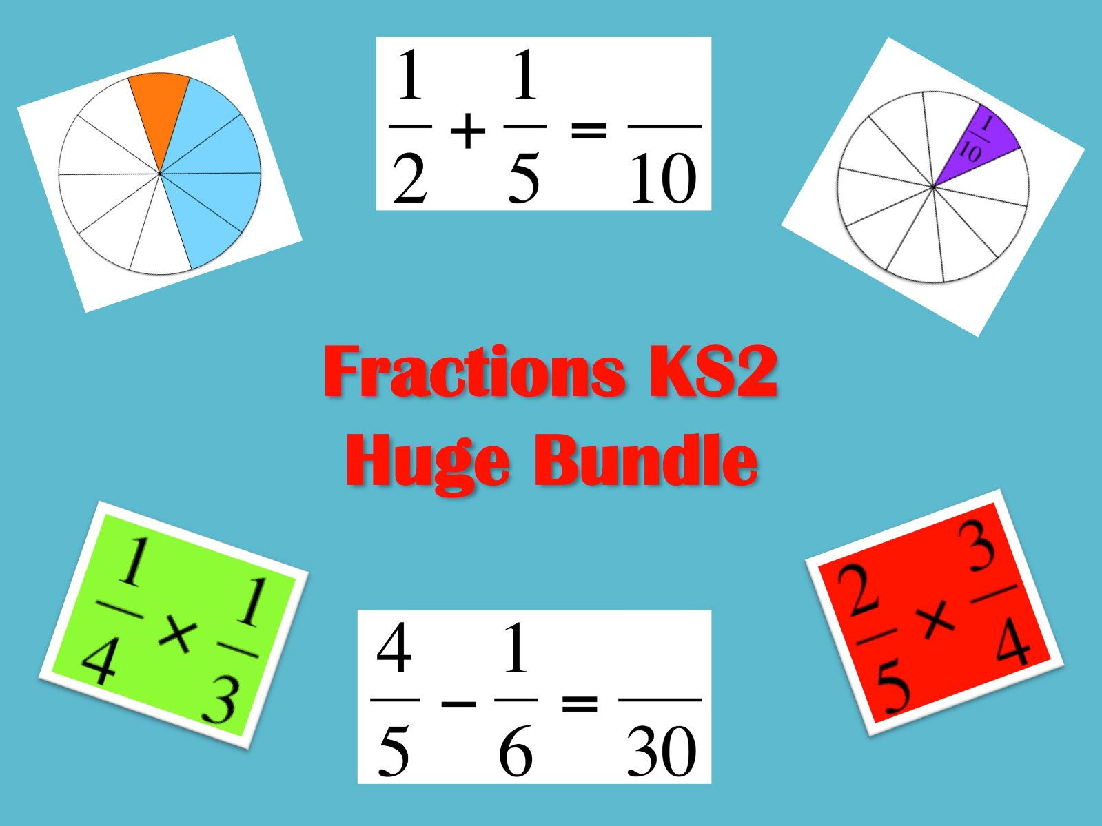 KS2, KS3 or KS4 Revision; Equivalent Fractions; lots of ...