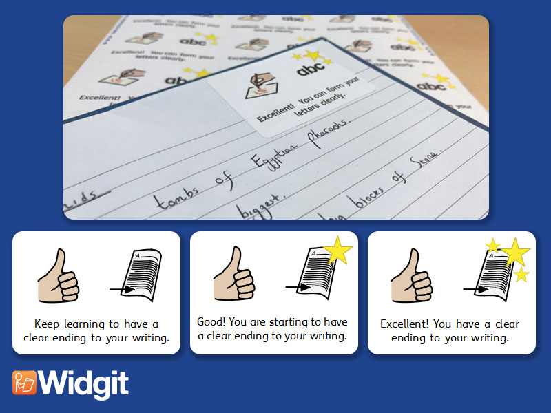 Sentences & Structure - Marking Stickers with Widgit Symbols