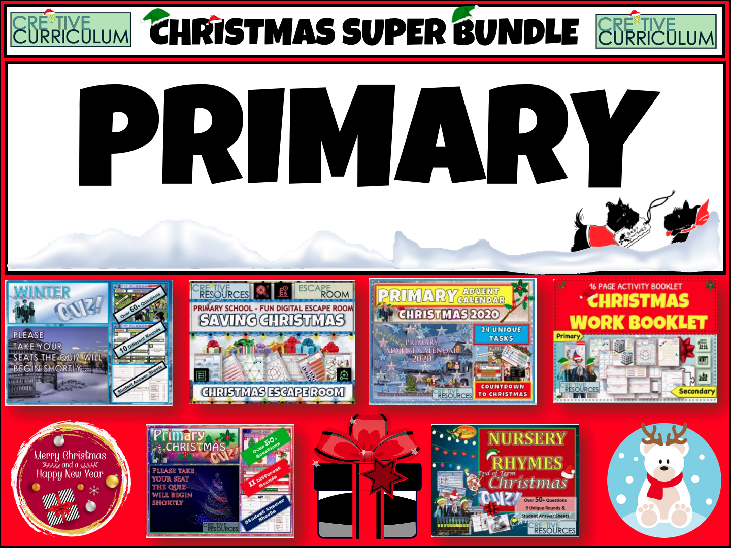 Primary Christmas Activities  Bundle