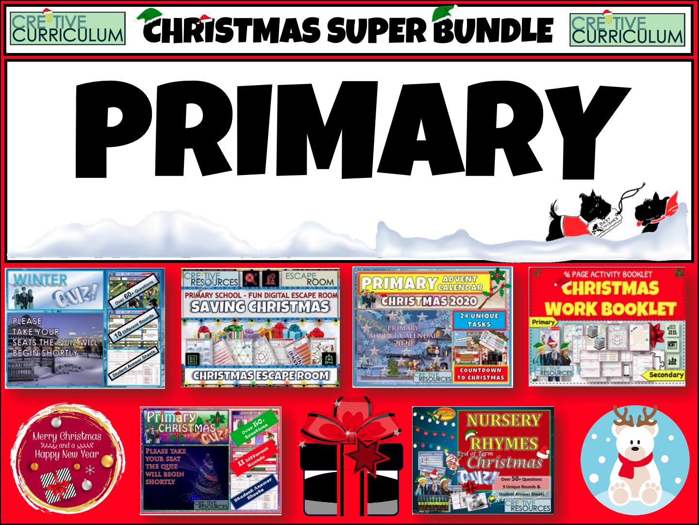 Primary Christmas Activities  Bundle