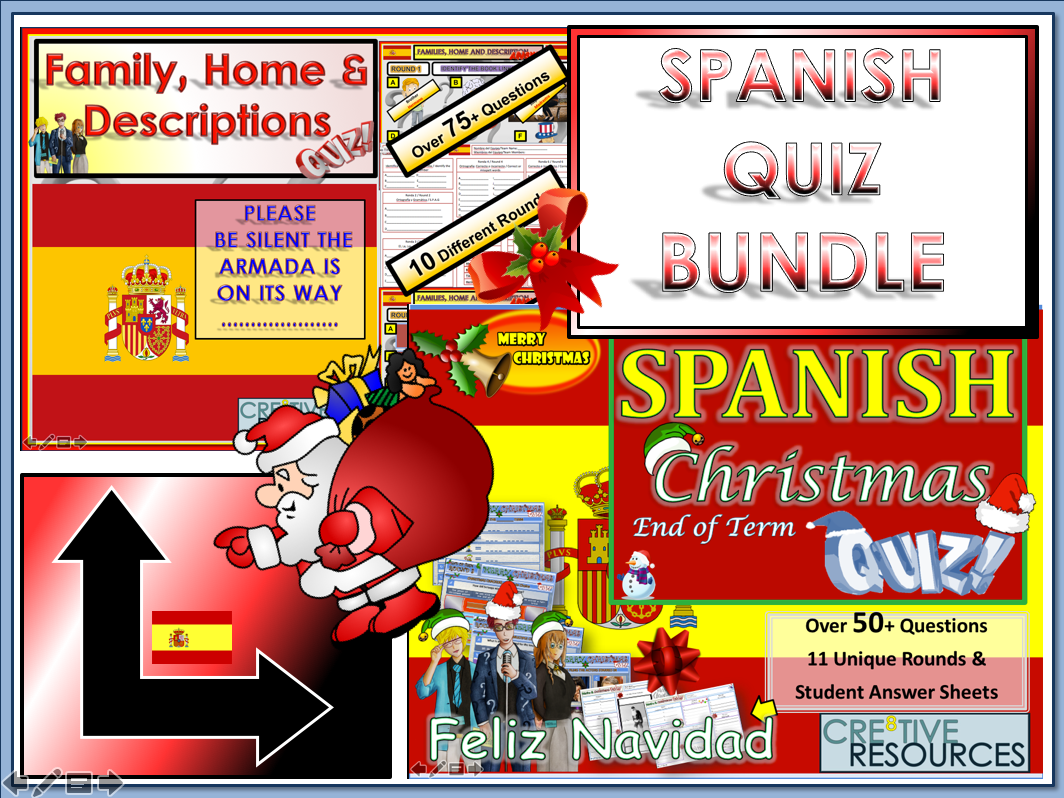 Spanish MFL Revision Quiz bundle